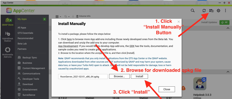 QNAP App Center Manual Install